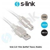 S-LINK 10m USB2.0 Şeffaf Yazıcı Kablosu SL-U2010