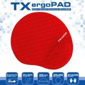 Tx 250x220x5mm Ergopad Plus Bilek Jel Destekli Kırmızı Mouse Pad Txacmpad01rd