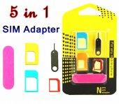 Metal Nano Sim Micro Sim Kart Adaptörü 5in1 Set