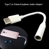 Usb 3.1 Type C 3.5mm Kulaklık Girişi Dönüştürücü Adaptör Kablo