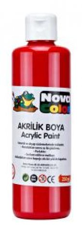 Nova Color Kırmızı Akrilik Boya 250 Gr Ahşap Taş Boyama