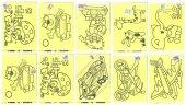 Kum Boyama A4 A 4 Boy Karışık Desen Figürler 50 Adet Toptan