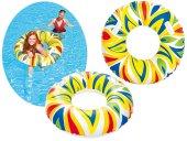 Plaj Topu HEDİYE - Bestway 36053, Desenli Büyük Tutmalı Simit - Havuz, Deniz Yüzme Simidi, 107 cm