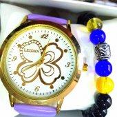 Bileklikli Taş Detaylı Leidan Marka Bayan Kol Saati