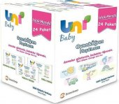 Uni Baby Oyna&Öğren Islak Mendil 8x3lü Paket 1248 Adet