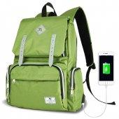 My Valice Smart Bag Mother Star Usbli Anne Bebek Bakım ve Sırt Çantası Açık Yeşil