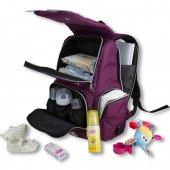 My Valice Smart Bag Mother Star Usbli Anne Bebek Bakım ve Sırt Çantası Açık Yeşil-5