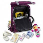 My Valice Smart Bag Mother Star Usbli Anne Bebek Bakım ve Sırt Çantası Açık Yeşil-6