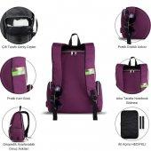 My Valice Smart Bag Mother Star Usbli Anne Bebek Bakım ve Sırt Çantası Açık Yeşil-8