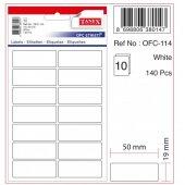 Tanex Etiket 19X50Mm Ofc-114