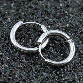 3mm Kalınlık Erkek Halka Küpe Paslanmaz Çelik Tek Çift Alım İmkan