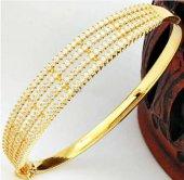 Altın Kaplama Taşlı Gümüş Bilezik Sevgiliye...