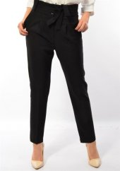 Bayan  Kemerli Kumaş Pantolon-2