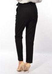 Bayan  Kemerli Kumaş Pantolon-3