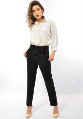 Bayan  Kemerli Kumaş Pantolon-4