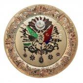 Osmanlı Arması Bakır Üzerine Hat Tablo (Renkli)-2