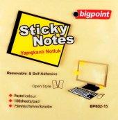 Bigpoint Yapışkanlı Not Kağıdı 75x75mm Sarı