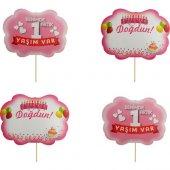 Partioutlet 1 Yaş Doğum Günü Konuşma Balonu Kız 10 Lu