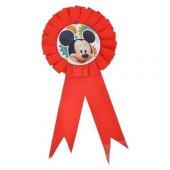 Mickey Mouse Parti Konsepti Doğum Günü Çocuğu Yaka Rozeti