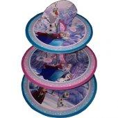 Tahtakale Toptancısı 3 Katlı Karton Cupcake Standı Frozen Temalı