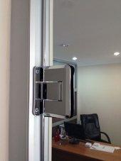 THR-6000-PCBR Thoor Simple Hidrolik Ayarlı Cam Kapı Menteşesi Duvardan cama-2