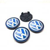 Volkswagen Mavi Damla Geçmeli Jant Göbeği 4lü 65 68mm