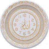 TAM TAŞLI Lüks Duvar Saati Ayetel Kürsi ve Allah(c.c.) yazılı 56-3