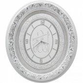 Ayetli Allah(c.c.) yazılı Taşlı Lüks Duvar Saati 52x60 cm-3