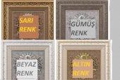 TAŞLI Lüks Duvar Saati Ayetel Kürsi ve Allah(c.c.) yazılı 54x60 c-5