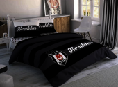 Taç Beşiktaş Striped Nevresim Takımı Bsk006