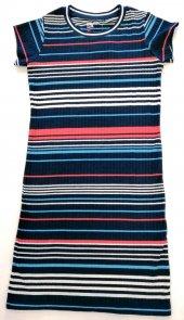 Renkli Çizgili Kız Çocuk Elbise Kod 131