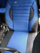 Volkswagen Polo 6R 2009 Sonrası Araca Özel Koltuk Kılıfı Mavi Renk