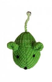 Karlie Örgü Fare Kedi Oyuncağı 10 Cm Yeşil