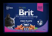 Brit Premium Pouch Kedi Maması Balıklı Çeşitler 4x...
