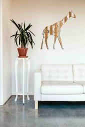 Ahşap Zürafa Duvar Dekoru