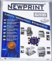 Newprint Inkjet Laser Etiket 63,5x72 (4006) 12li