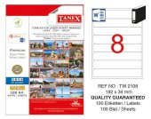 Tanex 192x34mm Laser Etiket 100lü (Tw 2108)
