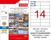 Tanex 105x38mm Laser Etiket 100lü (Tw 2514)