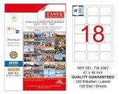 Tanex 67x46 Mm Laser Etiket 100lü (Tw 2067)