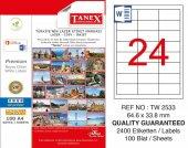 Tanex 64,6x33,8mm Laser Etiket 100lü (Tw 2533)