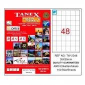 Tanex 35x35mm Laser Etiket 100lü (Tw 2348)