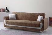 Kardelen Modern Kanepe Kahverengi (Sandıklı Ve Yataklı)
