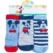 Mickey Mouse Mc12323 Bebek 3lü Soket Çorap