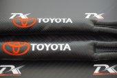 Toyota Logo Karbon Desen Koltuk Arası Fitili 2 Li Set 2019 Style-3