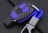 Mercedes Benz Gerçek Karbon Fiber Anahtar Kapağı İç Silikonlu-9