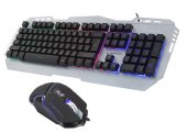 Rampage KM-RX8 Metal Rainbow Işıklı Macro Oyuncu Klavye Mouse-2