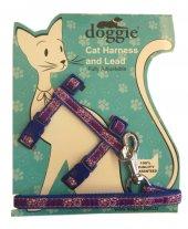 Doggie Gülücük Kedi Göğüs Tasması 22 36 Cm Mavi...