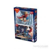 Warner Bros Superman- Puzzle - (Yapboz) 2si 1 arada (35+60 Parça-2
