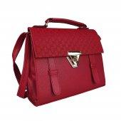 Kırmızı Renk El Ve Omuz Askılı Kadın Çantası #5013