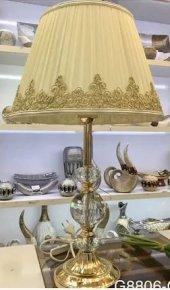 Gold Renk 3 cam toplu Abajur
